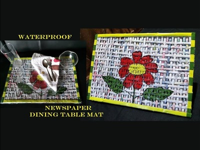 How To Make Waterproof Newspaper Dining Table Mats. Placemat From Newspaper. DIY Newspaper Mats
