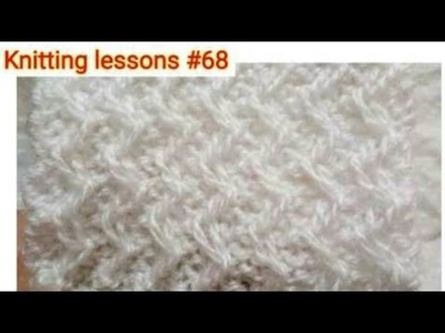 How to make || Zig-Zag || Fixed Loop Stitch || Knitting Pattern || Beautiful || Easy to make