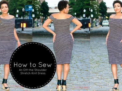How to Sew an Off-the-Shoulder Stretch Knit Dress