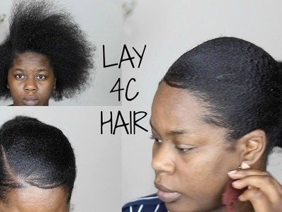 How to SLEEK.SLICK.LAY 4C Hair - Bun with Waves and Slick Edges|| TheAdeTomi