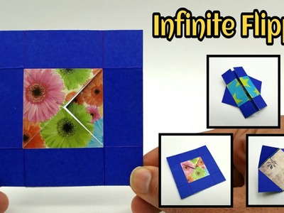 Infinite Flipper | Never Ending Card from one Paper Sheet - DIY | Handmade | Tutorial - 777