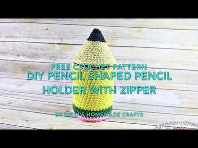 Intro video for the DIYPencil Shaped Pencil Holder - Free Crochet Pattern