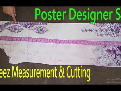 Kameez Cutting|Kameez Measurement & Cutting|How To Measure & Cut Kurti-Shirt|Poster Design|Pakistani