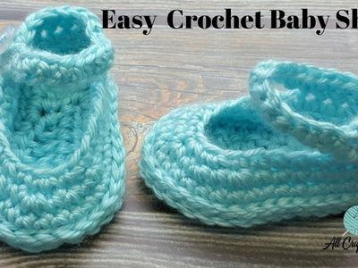 Learn to Crochet Baby Shoes. Crochet tutorial
