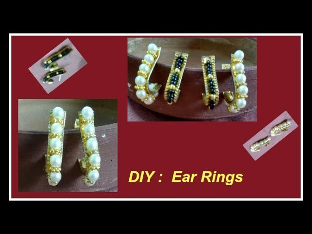 Learn two patterns of ear rings | You can do it | How to make ear rings | Moti and beads ear rings