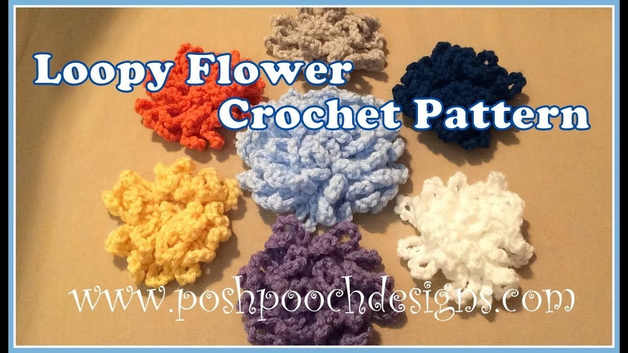 Loppy Flower Crochet Pattern