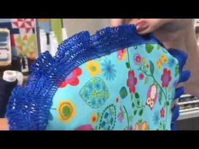 Make Your Own Crochet Edge Trim on the Serger!
