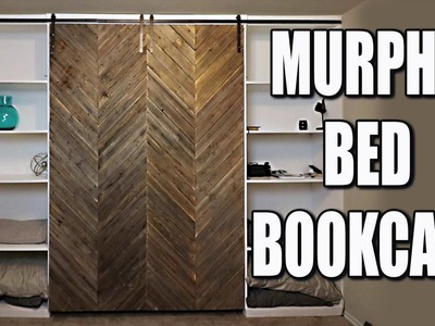 Murphy Bed DIY With Modern Farmhouse Style Barn Door