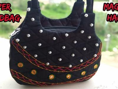 New handbag make at home.how to make new handbag.cutting and sewing.