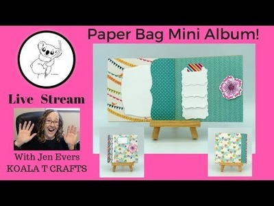 Paper Bag Mini Album TUTORIAL How to  EASY diy mini album Super fun gift-able idea! Lunch bag size)