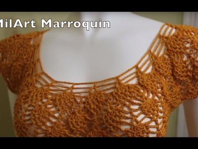 Pineapple Crochet Blouse - English.  Este Tutorial ya esta disponible en Español