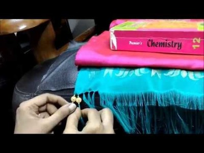 Saree Tassels - How to insert beads in a simple way