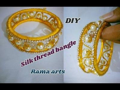 Silk thread bangle - How to make silk thread bangle | jewellery tutorials