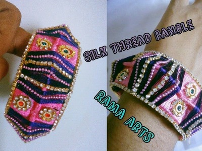 Silk thread bangle - How to make this bangle | jewellery tutorials