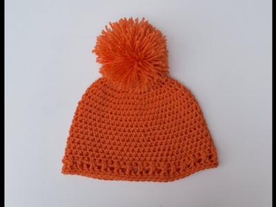 Simple and Easy Crochet Baby Hat.Beanie(4 sizes)