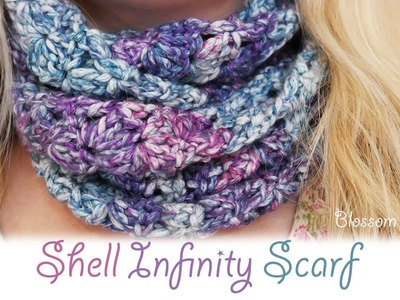 Super easy crochet: Shell Infinity Scarf