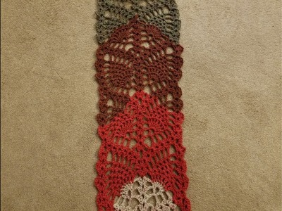 The Pineapple Lace Scarf Crochet Tutorial (part 3)