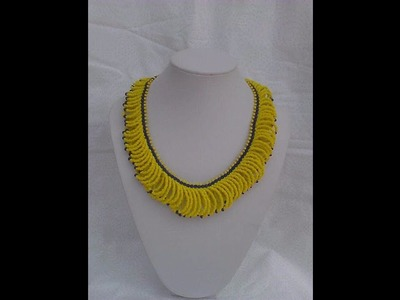 The tutorial on how to make this beautiful yellow and blue bead