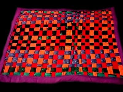 পুরানো কাপড়ে পাপোষ. How to make doormat by recycle clothes.Doormat