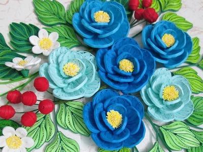 Tutorial DIY Quilling Camellia Flower Paper