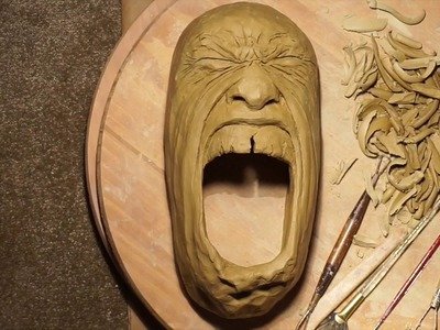 Amazing Art - How to make a Ceramic Mask - Incredible Pottery