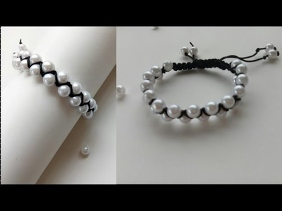 Bracelet. Friendship bracelets. How to make bracelets.friendship band. Crossed bracelet with pearls