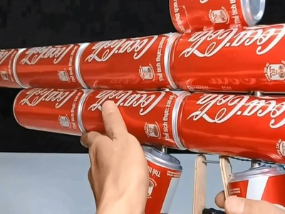 Coca Cola Gun! How to Make Powerful Gun, Mounting Removing Easy from Coca Cola cans