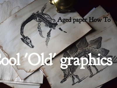 Cool old retro graphics  - how to make paper look old (aging technique)