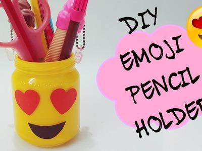 DIY  EMOJI PENCIL HOLDER.How to make Pencil holder.DIY Back to School.DIY DESK ORGANIZER
