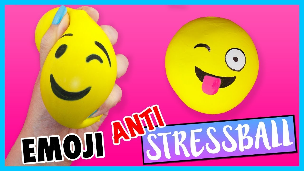 DIY EMOJI STRESS BALL ???? How to make FUN Stress Ball for BACK 2 SCHOOL!