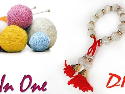 DIY : how to make 2 in 1 Friendship Bracelets   rakhi for bhabhi   Art With Creation