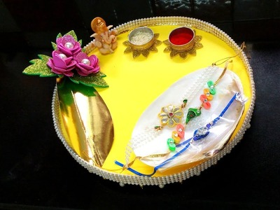 Diy How to Make and Decorate Paper Tika \ Puja Thali