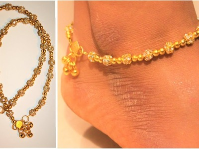 DIY-How to make anklets at home | jewellery