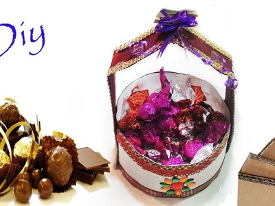 DIY how to make chocolate basket at home for gift Art With Creation