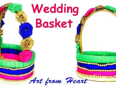 DIY - How to make decorative wedding basket? wedding decoration ideas.