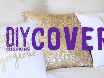 DIY How To Make   Diy cushion cover ideas, diy cushion covers, diy cushion covers no sew