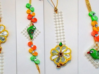Diy how to make Easy 2 sets of Rakhi and Lumba for Rakshabandhan