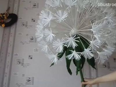 DIY| How to Make Flowers Crepe Paper | Giant Dandelion. Part 2 Subt. Eng)