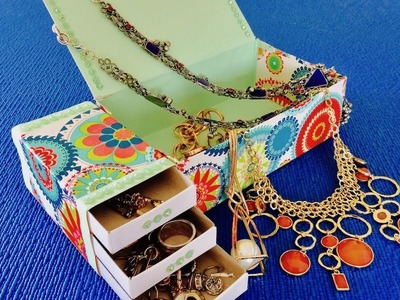 DIY: How to Make Jewelry Box. Hand made from matchboxes