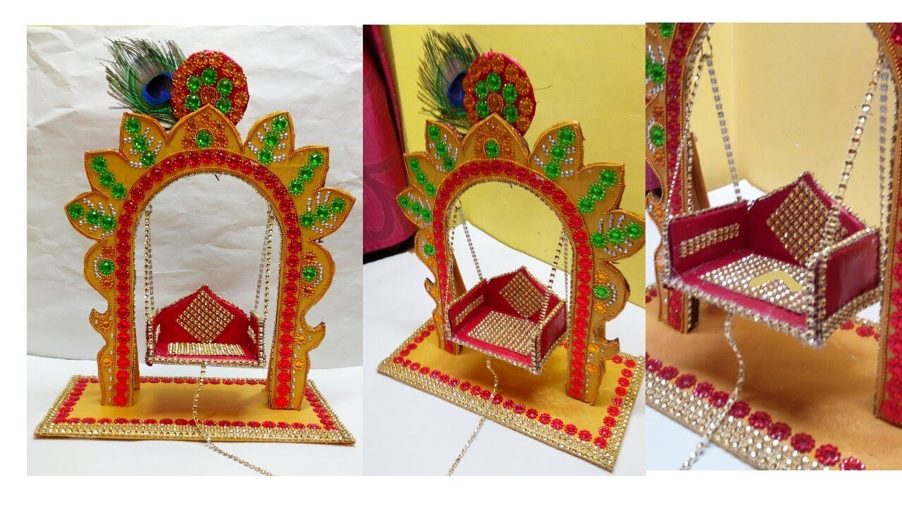 diy how to make jhula for bal gopal at home miniature