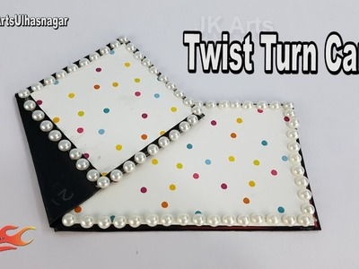 DIY How to make Twist Turn Card | Card for Scrapbook | JK Arts 1244
