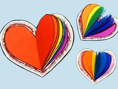 DIY notebook - Rainbow heart | How to make notebook | DIY School Supplies Back To School | Julia DIY