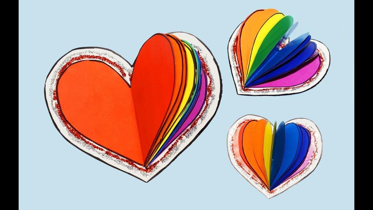DIY notebook - Rainbow heart   How to make notebook   DIY School Supplies Back To School   Julia DIY