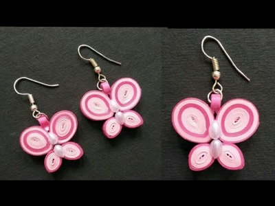 DIY Quilling earrings | Quilling Butterfly Earring | How to make paper Quilling earrings at home