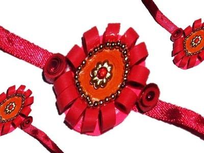 DIY Quilling Made Easy : How to make  Paper Quilling 'Rakhi' - Raksha Bandhan -Paper Art