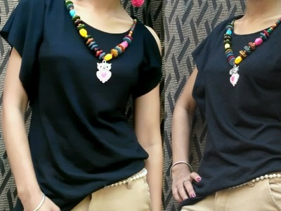Easy DIY.How To Make A Trendy Top using Old Dupatta.Fabric.10 Minute DIY
