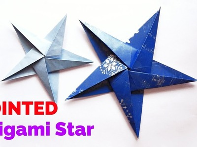 Five – 5 Pointed Origami Star | How to make a origami five pointed star | Paper Christmas Ornaments