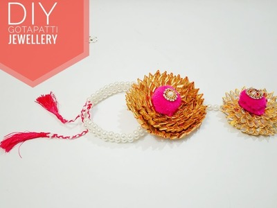 Gota Patti  Jewellery   BRIDAL wearing   Gota Patti Art   How to make Gota Patti   Art & Creativity❤