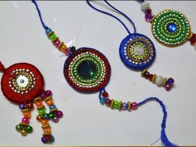 Handmade Rakhi Making # How To make Beautiful Rakhi At Home # NIDHI JAIN