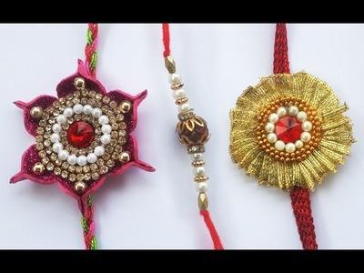 Handmade Rakhi Video #2 : Learn 3 Creative Rakhi's | How to Make Rakhi at Home | Beautiful Rakhi